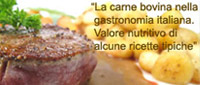 La carne bovina nella gastronomia italiana
